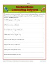 Conjunction Worksheet: Connecting Subjects