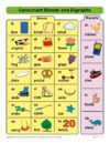 Consonant Blends and Digraphs Chart