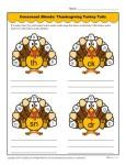 Consonant Blends Worksheet - Thanksgiving Turkey Tails