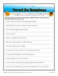 Free, Printable Correct the Homophones Worksheet
