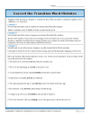 Correct the Transition Word Mistakes – Worksheet