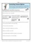 Correcting Comma Splices Practice Activity