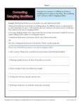 Correcting Dangling Modifiers Language Arts Worksheet