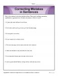 Correcting Mistakes in Sentences