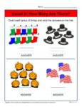 How Many Are there? Preschool Worksheet Activity