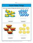 Preschool Counting Worksheet - Count each group of things