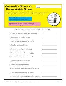 Topics : Nouns Grades : 2nd Grade
