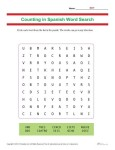 Counting in Spanish Word Search