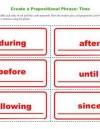 Create a Prepositional Phrase: Time