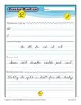 Cursive B - Printable Alphabet Letters Practice Activity