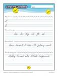 Cursive I - Printable Alphabet Letters Practice Activity