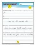Cursive T - Printable Alphabet Letters Practice Activity