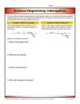 Diagramming Sentences - Interrogatives - Printable Worksheet Lesson Activity