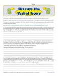 Discuss the Verbal Irony - Printable Worksheet Exercises
