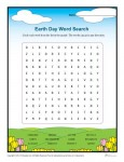 Printable Earth Day Word Search Activity