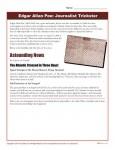 Edgar Allen Poe Printable Worksheet - Journalist Trickster