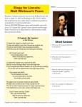Abraham Lincoln Printable Activity - Elegy by Walt Whitman
