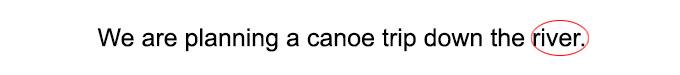 Example of singular nouns