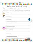 Ending Punctuation Practice Worksheet - Exclamation Points and Periods