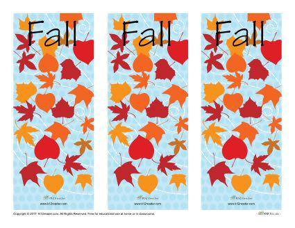 Fall Printable Bookmarks