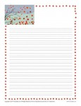 Fall Lined Writing Paper for Kids