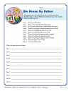 Printable Father's Day Bio Poem Worksheet Activity