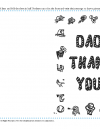 Father's Day Thank You Card
