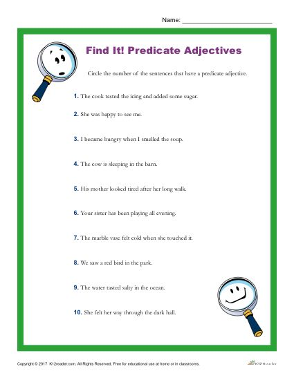 which one of the following sentences contains a predicate adjective?