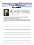 Washington's Birthday Printable Activity - Almost a King