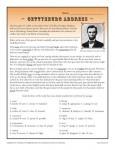 Free, Printable Gettysburg Address Worksheet
