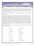 High School Context Clues Worksheet Activity - Reading for Meaning