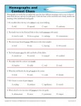 High School Homographs and Context Clues Worksheet Activity