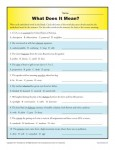 Middle School Context Clues Worksheet - What Does it Mean?
