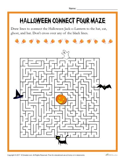 Halloween Printable Maze Activity