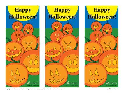 Halloween Printable Bookmarks