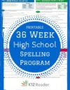 High School Spelling Words – 36 Week Program