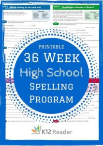Worksheet 5 Grade Spelling Words K12 Reader 17 high school spelling words program free 36 weeks program