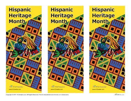 Hispanic Heritage Month Printable Bookmarks