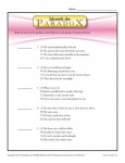 Identify the Paradox - Free, Printable Worksheet Lesson Activity