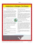 Interjections in Dialogue Tom Sawyer - Worksheet Practice Activity