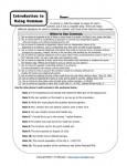 Using Commas - Free, Printable Comma Worksheet