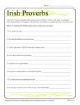 Printable St. Patrick's Day Activity - Irish Proverbs!