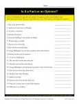 Fact and Opinion Worksheet Practice Activity