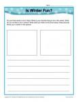 Free printable Kindergarten writing prompt - Is Winter Fun?
