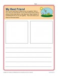 Writing Prompt for Kindergarten - My Best Friend