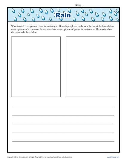 kindergarten writing prompt about rain. Black Bedroom Furniture Sets. Home Design Ideas