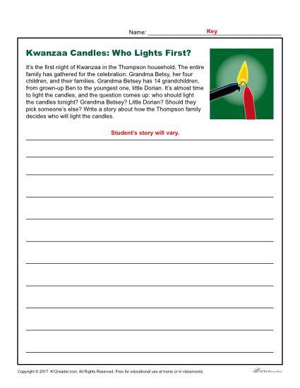 Kwanzaa Printable Writing Prompt Activity