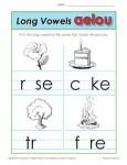 Long Vowel Worksheet Activity for Kids