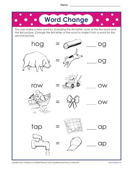 first grade printable phonics worksheets
