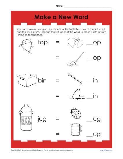Word Match Worksheet | Phonics Worksheets